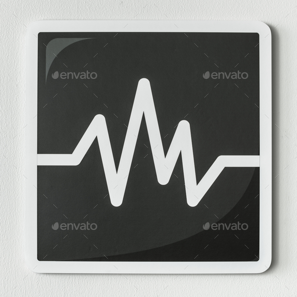 Black and white icon of audio - Stock Photo - Images