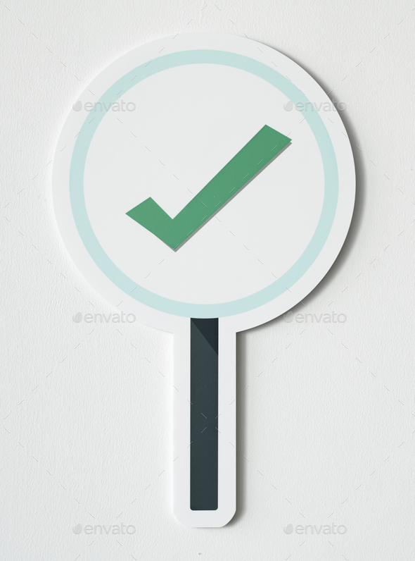 Right tick sign icon isolated - Stock Photo - Images
