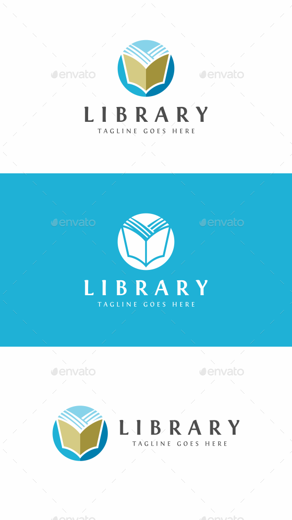 Book Logo - College Logo Templates