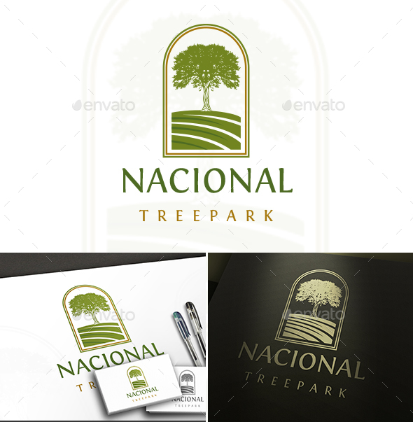 Tree Park Logo - Nature Logo Templates
