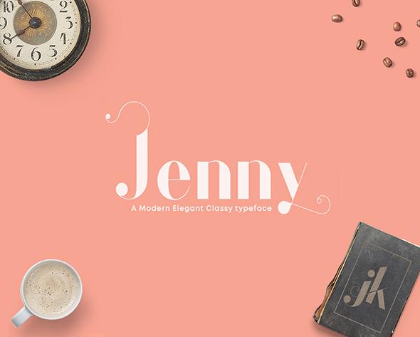 Jenny - Elegant Classy Typeface - Sans-Serif Fonts