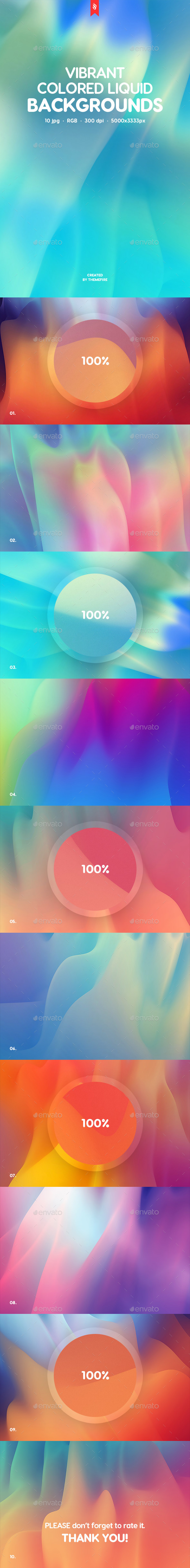 Vibrant Colored Liquid Backgrounds - Backgrounds Graphics
