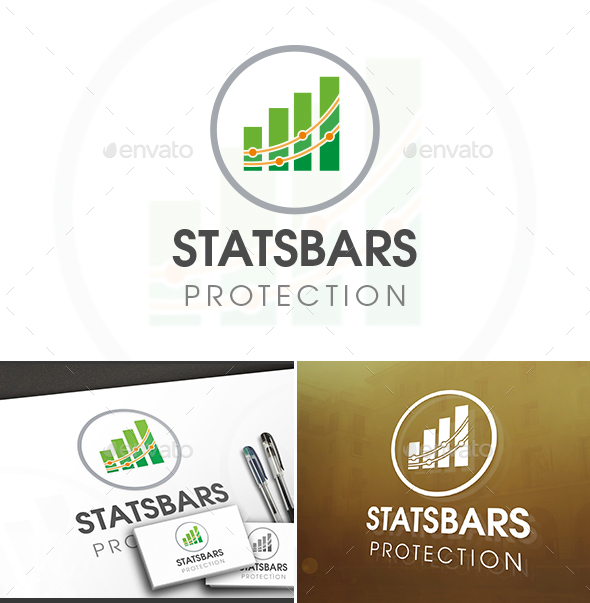 Stats Circle Logo - Vector Abstract