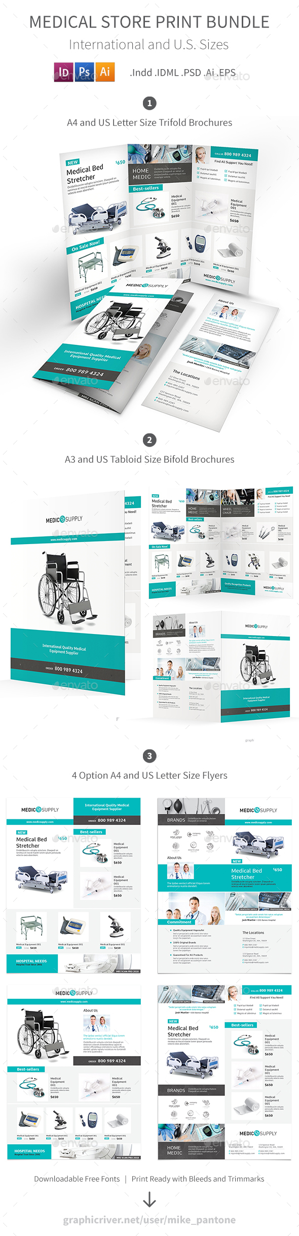 Medical Store Print Bundle - Informational Brochures