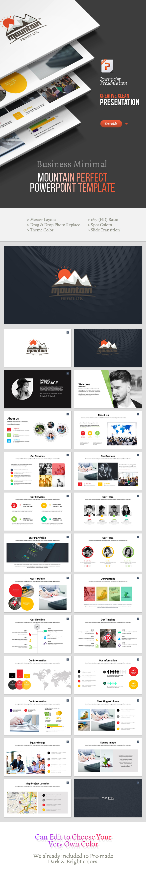 Mountain - Perfect Powerpoint Template - Business PowerPoint Templates