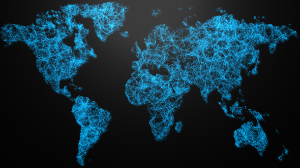Digital world map network background by valiyevrauf videohive play preview video gumiabroncs Choice Image