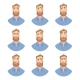Face of Man with Beard -Set - GraphicRiver Item for Sale