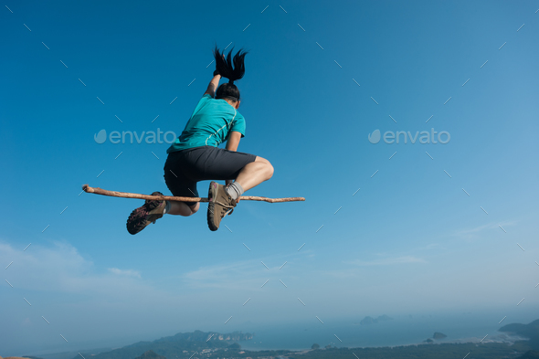 Fly with magic stick - Stock Photo - Images