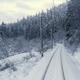 Train In Winter Scene - VideoHive Item for Sale