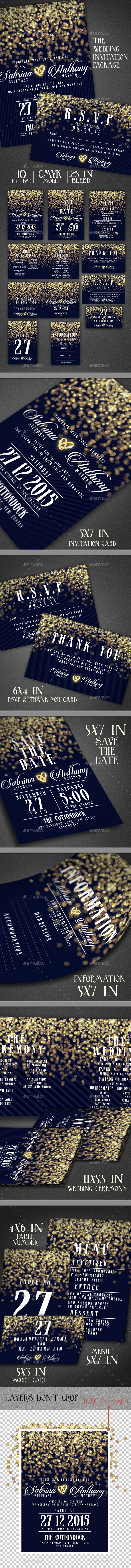 Wedding Invitation Package - Cards & Invites Print Templates
