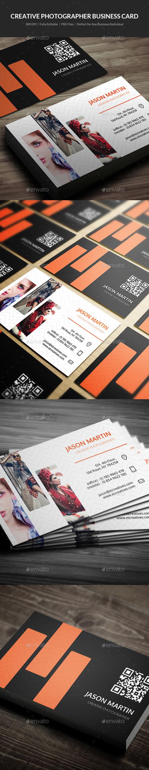 Creative Photographer Business Card - 27 - Creative Business Cards