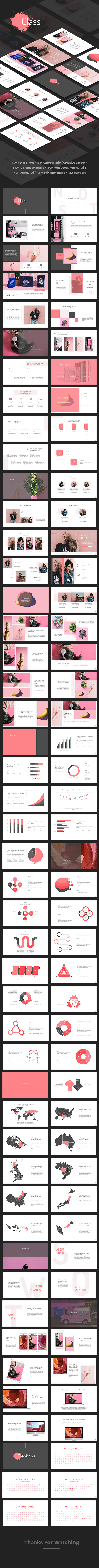 Class - Creative Google Slides Template - Google Slides Presentation Templates