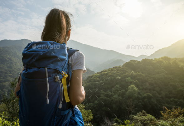 Explorer in the mountains - Stock Photo - Images