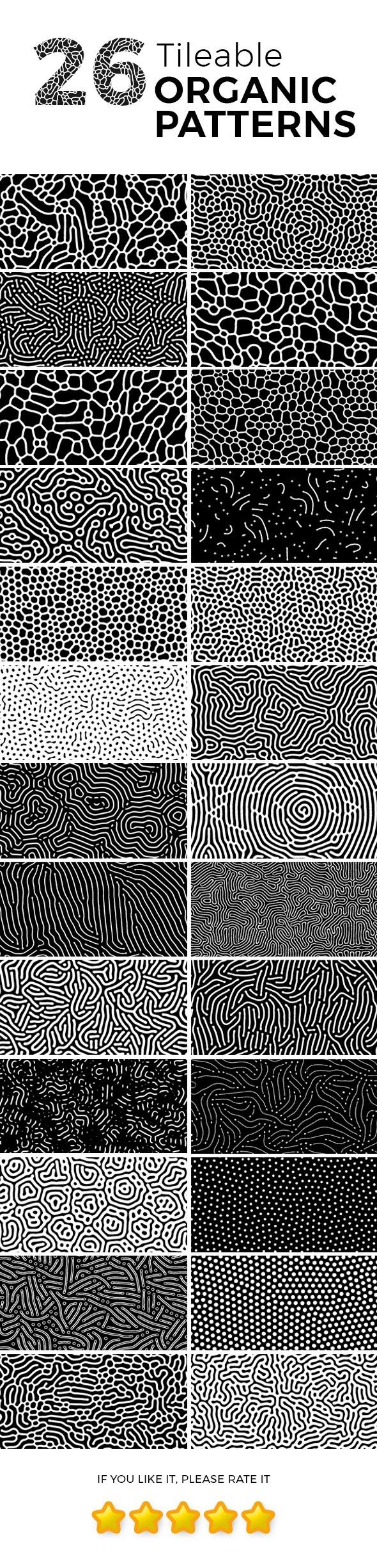 26 Tileable Organic Patterns - Textures / Fills / Patterns Photoshop