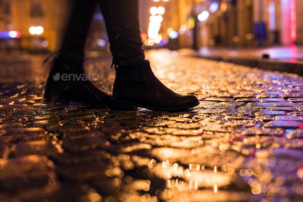 Night walk - Stock Photo - Images