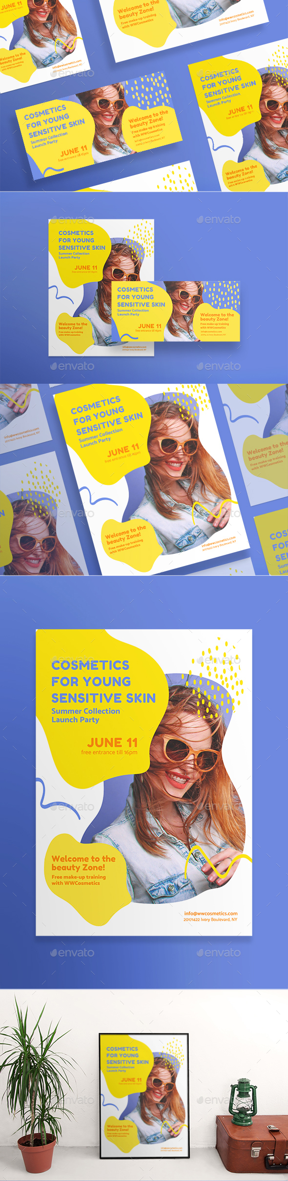 Cosmetics For Your Skin Flyers - Miscellaneous Events
