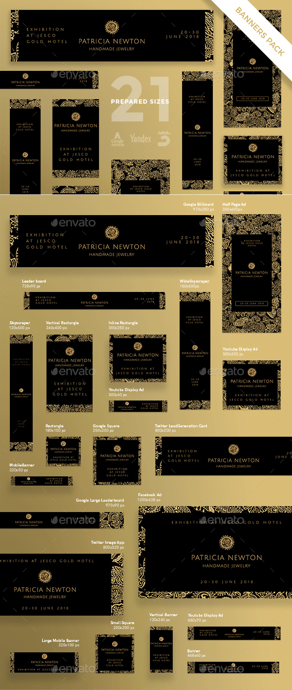 Handmade Jewelry Exhibition Banner Pack - Banners & Ads Web Elements