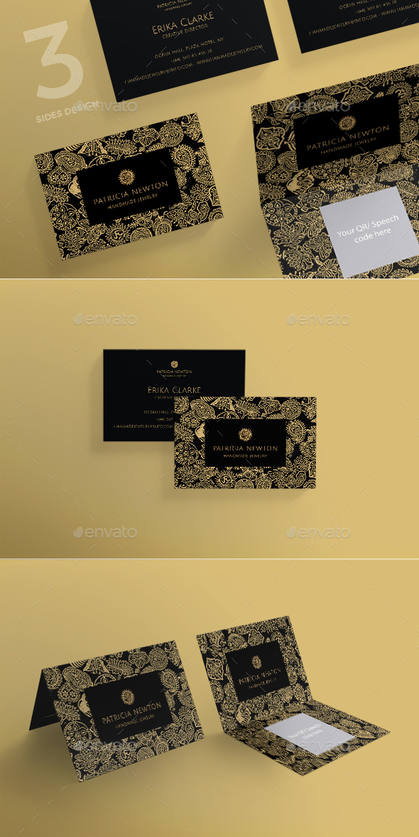 Handmade Jewelry Exhibition Business Card - Corporate Business Cards