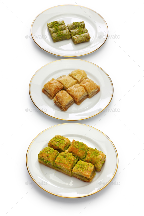 baklava, turkish traditional desserts - Stock Photo - Images