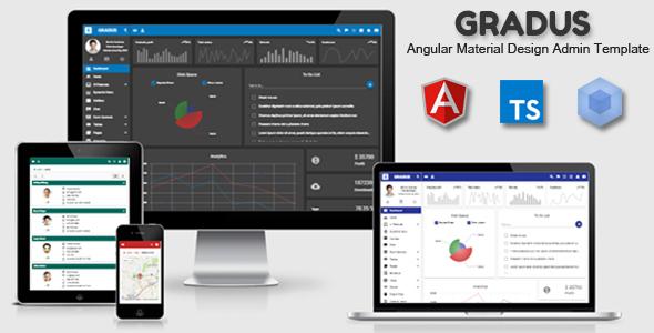 Gradus - Angular 5 Material Design Admin Template - Admin Templates Site Templates