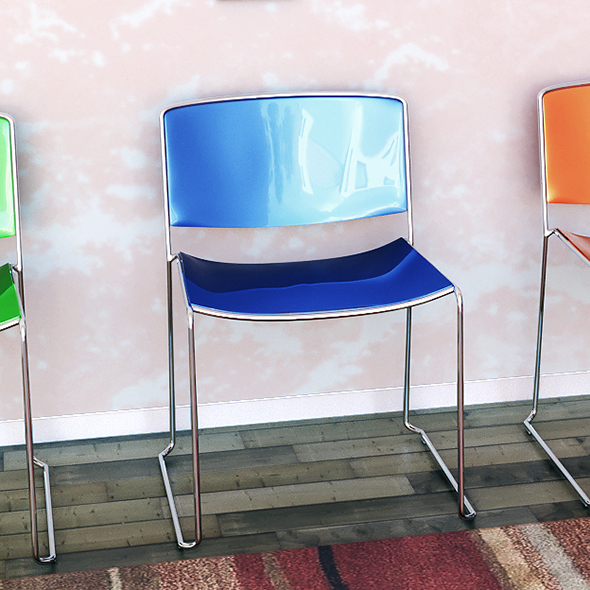 chair Sporro Spindle Color - 3DOcean Item for Sale