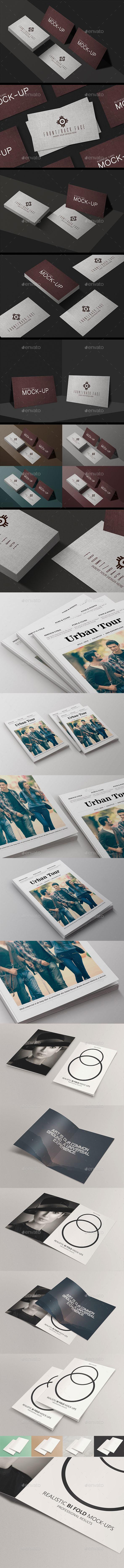 Design Presentation Mock-Ups Bundle - Miscellaneous Print