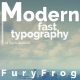 Modern Fast Typography - VideoHive Item for Sale