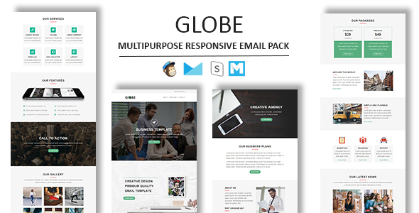 Globe - Multipurpose Responsive Email Template With Stamp Ready Builder Access