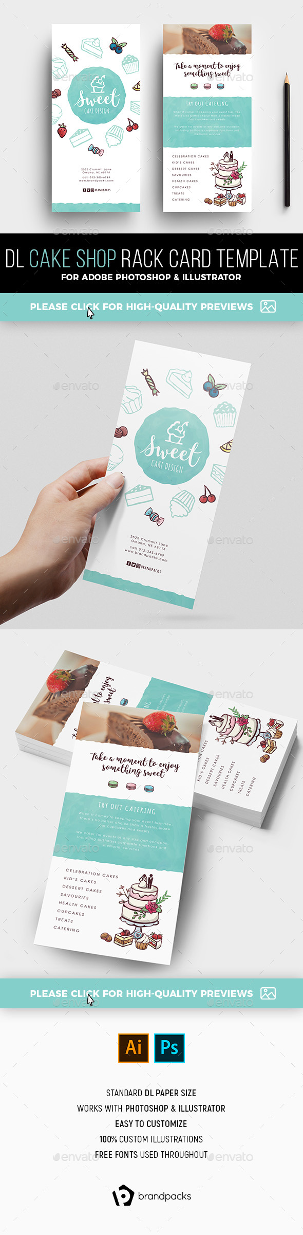 Dl Card Template Graphics, Designs & Templates from GraphicRiver