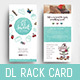 DL Cake Shop Rack Card Template