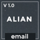 Alian Responsive Email Template + Stampready Builder + Mailchimp + Mailster - ThemeForest Item for Sale