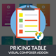 Price Table | Price Plan - Visual Composer Addon- WordPress Plugin