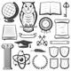 Vintage University and Academy Elements Set