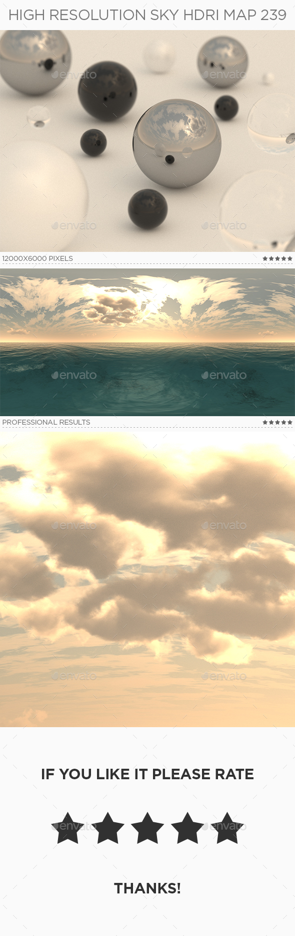 High Resolution Sky HDRi Map 239 - 3DOcean Item for Sale