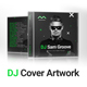 GrooveLine - DJ Mix / Album CD Cover Artwork PSD Template