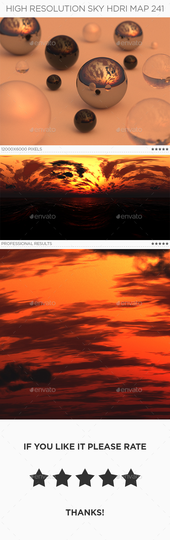 High Resolution Sky HDRi Map 241 - 3DOcean Item for Sale