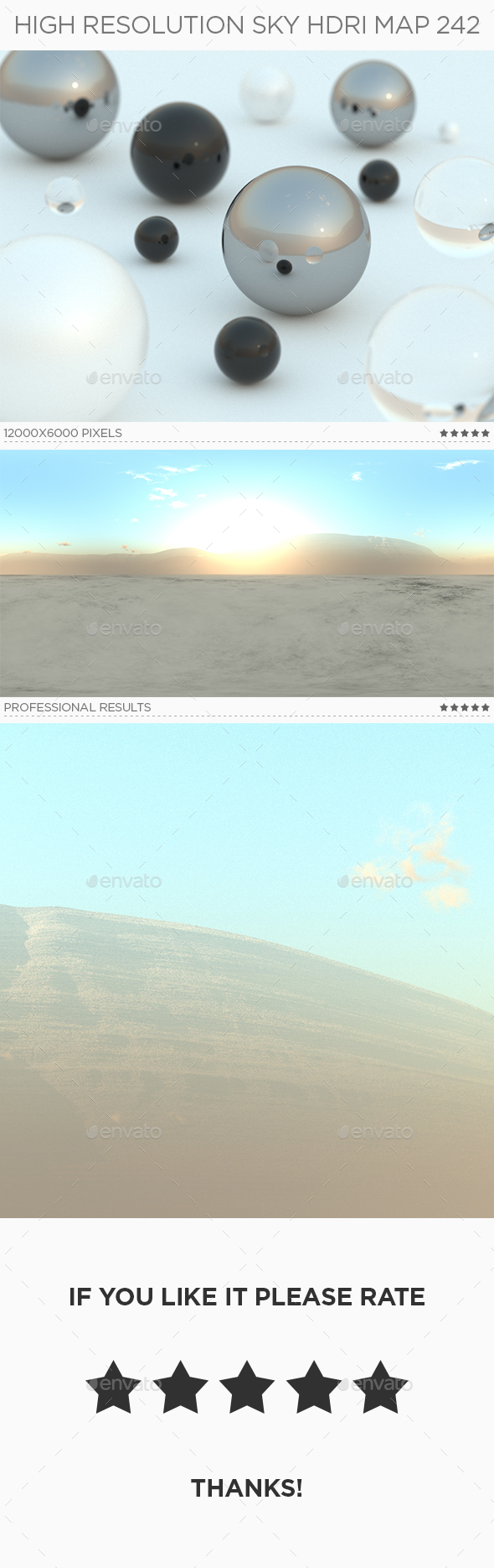 High Resolution Sky HDRi Map 242 - 3DOcean Item for Sale