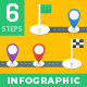 Milestone Infographics - 6 Steps - GraphicRiver Item for Sale