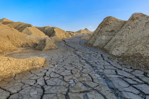 Mud Volcanoes, Romania - Stock Photo - Images