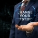 Businessman Shows Concept Hologram Change Your Destiny on His Hand - VideoHive Item for Sale
