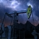Oil Pump Jack Under Night Sky - VideoHive Item for Sale