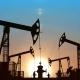Looped Oil Pumpjacks Against Blue Sunset Sky - VideoHive Item for Sale
