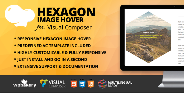 Hexagon Image Hover Addon for WPBakery Page Builder (formerly Visual Composer) - CodeCanyon Item for Sale