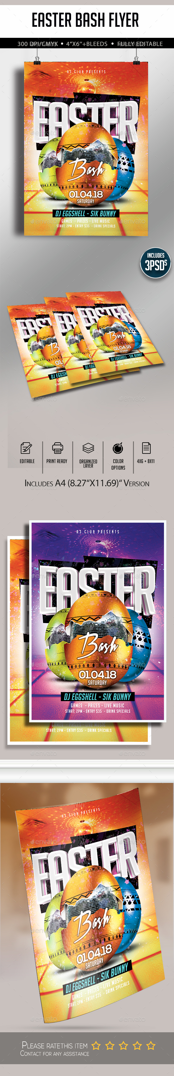 Easter Bash Flyer - Clubs & Parties Events
