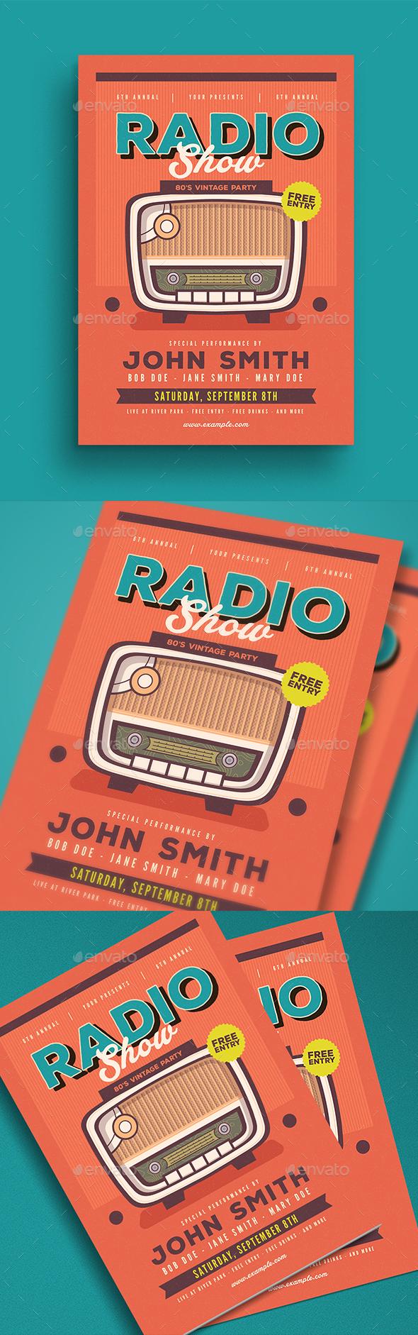 Retro Radio Event Flyer - Events Flyers