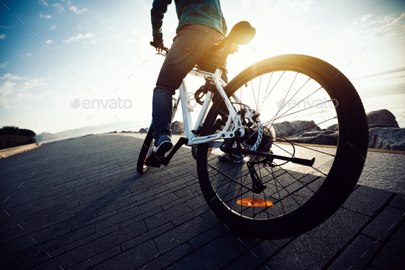 Cycling on morning  - Stock Photo - Images