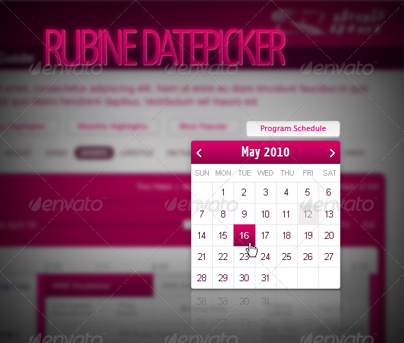 Rubine Datepicker - Miscellaneous Web Elements