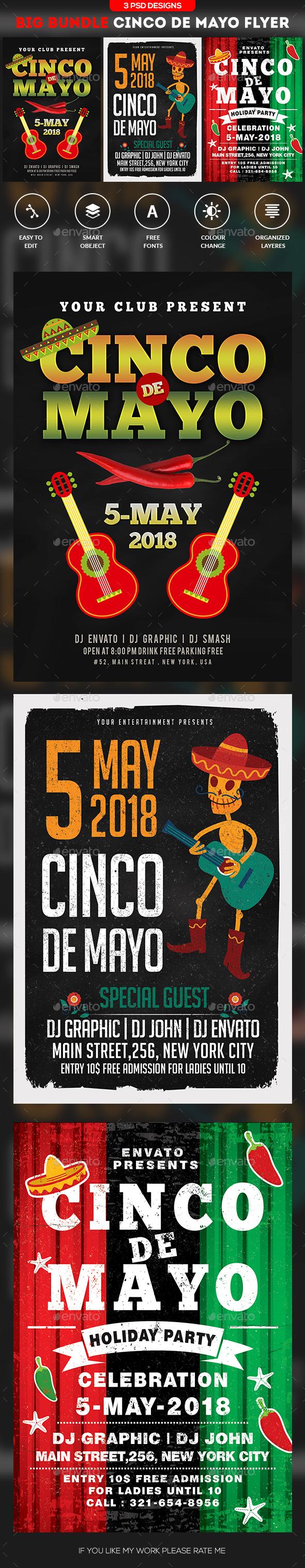 Cinco De Mayo Flyer Bundle - Clubs & Parties Events