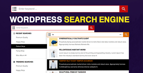 WP Search Engine - WordPress / WooCommerce / Custom Post Types - CodeCanyon Item for Sale