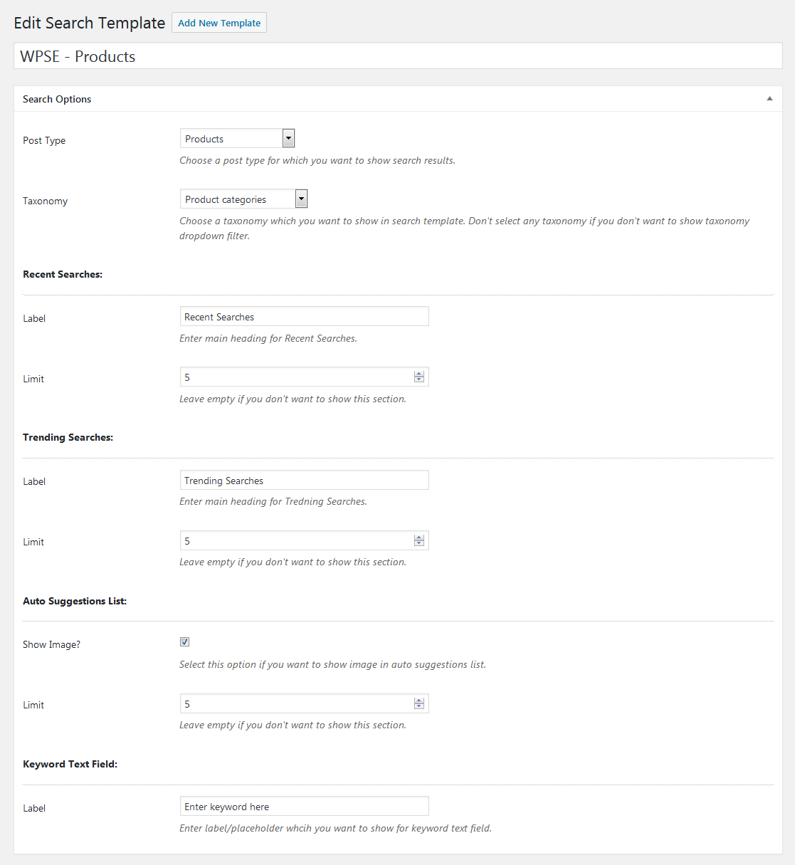 WP Search Engine - WordPress / WooCommerce / Custom Post Types by ...
